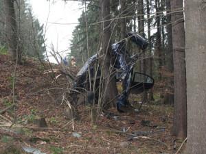 Nehoda si vyžádala život řidiče. Foto: Policie ČR