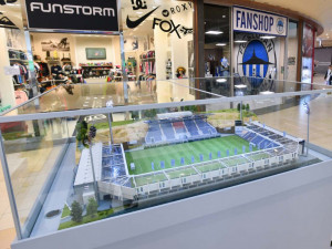 Model stadionu.