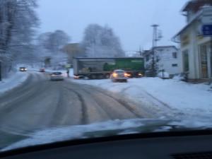 Kamion zablokoval Ruprechtickou ulici