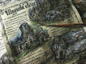 Uchvatné kresby Karolíny Wellartové jsou hlavní částí připravované knihy Přicházejí vlci