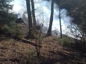 Foto z místa požáru
