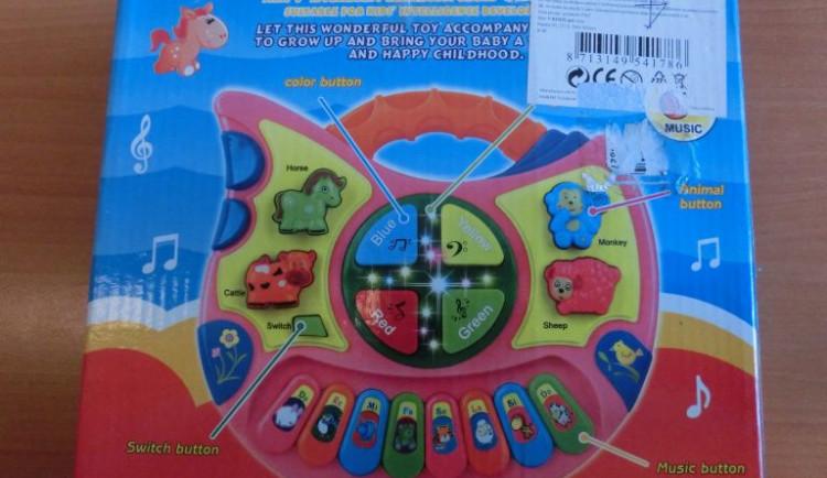 Piano Animal World pro děti je podle ČOI nebezpečné. Nařídila stažení hračky z trhu