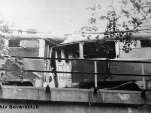 Srážka dvou tramvají.