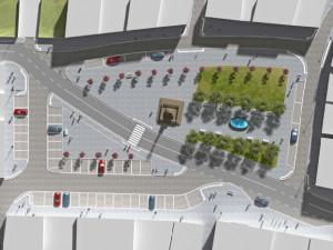 Návrh rekonstrukce náměstí Míru v Jablonném v Podještědí.
