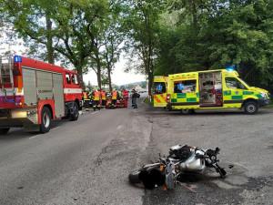 Nehoda v Hajništi.