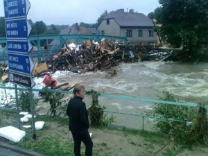 Povodeň ve Frýdlantu.
