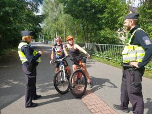 Policisté se zaměřili na cyklisty.