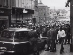Demonstrace v Liberci v roce 1969.
