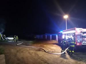 Požár garáže v Liberci.