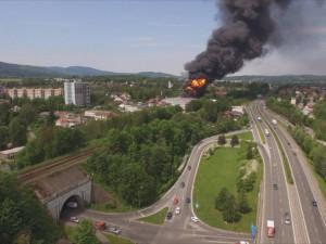 Požár Severochemy.