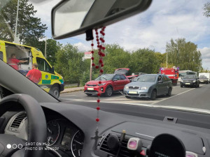 V České Lípě se srazila dvě auta