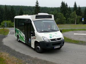 Autobus na Smědavě.