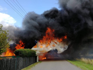 Požár v Novinách.
