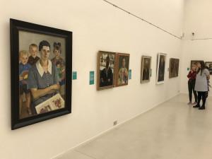 Obrazy Paula Gebauera v liberecké galerii.