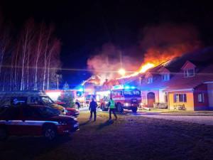 Požár na Vysoké.