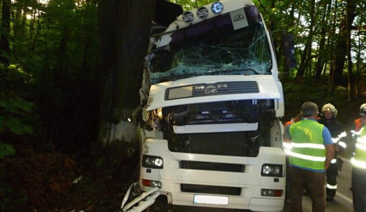 Nehoda polského kamionu u Grabštejnu