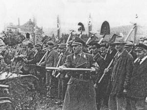 Zahájení stavby 18. dubna 1939 v místě dnešní zastávky Spáleniště