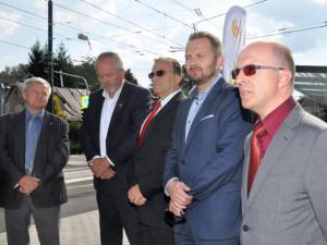 Slavnostní zahájení provozu na zrekonstruované trati do Jablonce