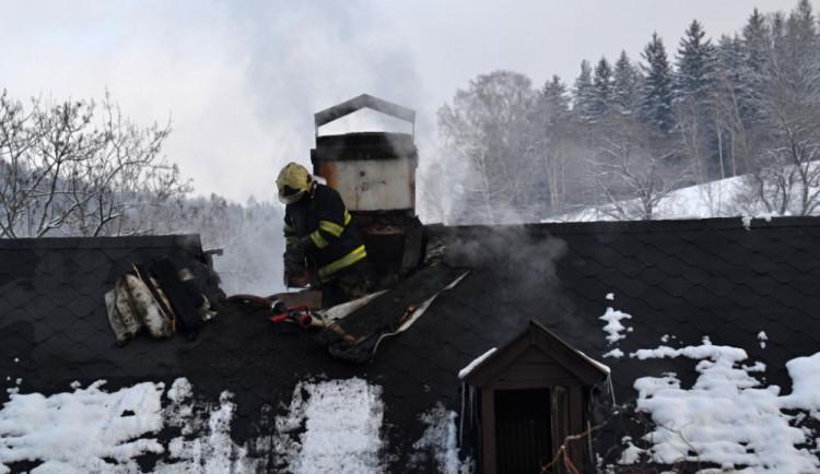 Požár rodinného domu na Fojtce