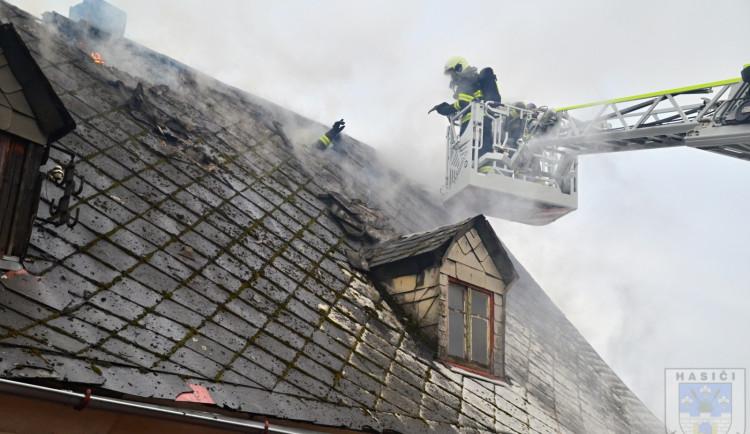 Požár rodinného domu v Chrastavě