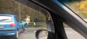 Nehoda dvou osobních aut u Rádla