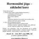 Hormonální jóga - základní kurz